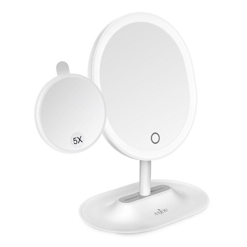 Anjou Makeup-Spiegel Wiederaufladbare LED