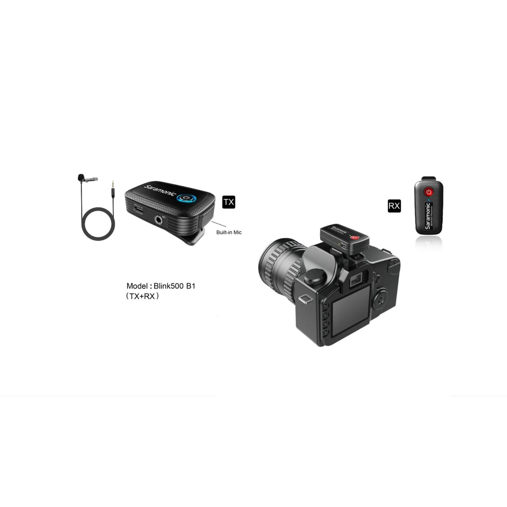 SARAMONIC BLINK500 B1 Wireless CLIP-ON TX+RX   Fdirect.eu - B2B only