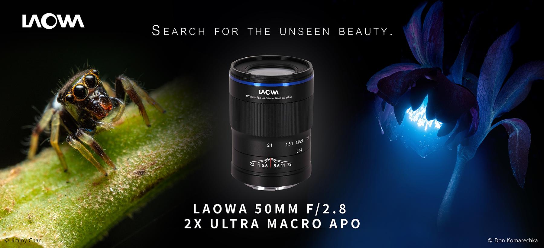 Venus Optics Laowa 50mm f/2.8 2x Macro lens for Micro 4/3