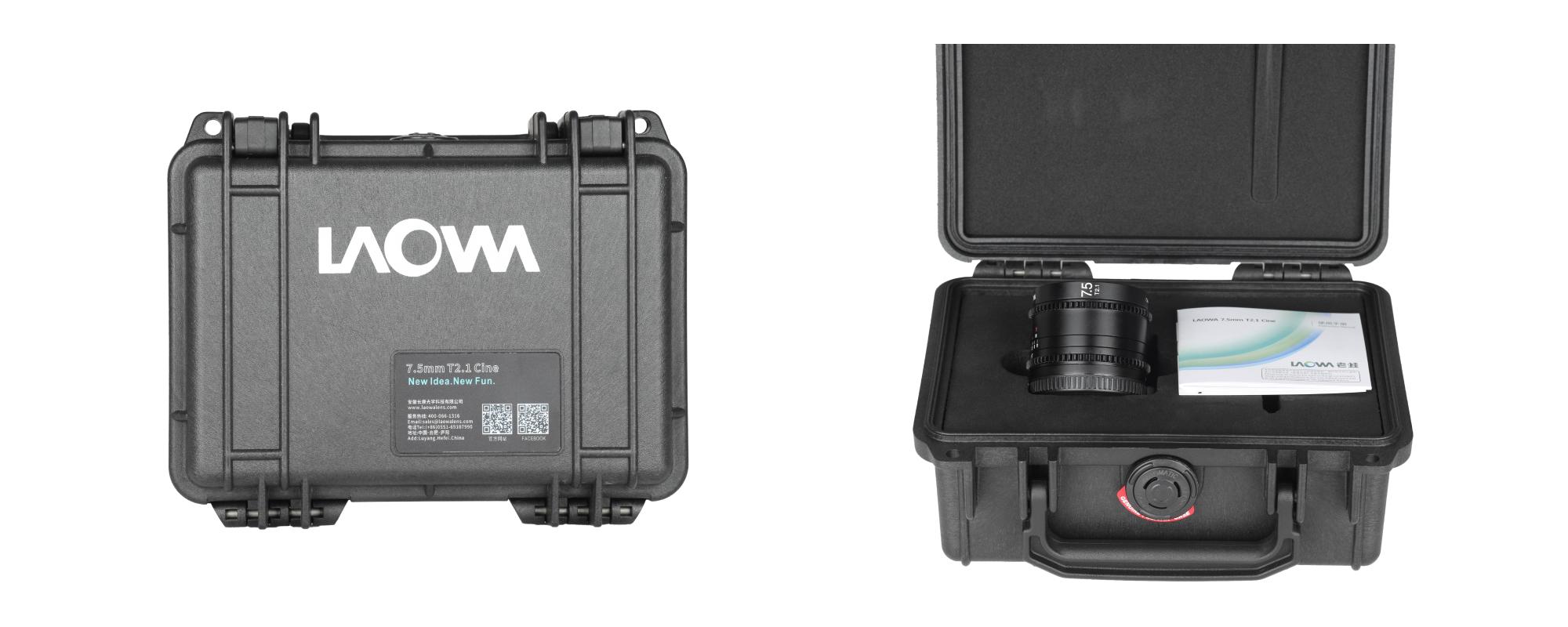 Venus Optics Laowa 7.5mm T2.1 lens for Micro 4/3 Cine on white background