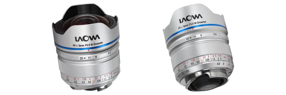 Laowa 9mm f/5.6 FF RL lens on white background