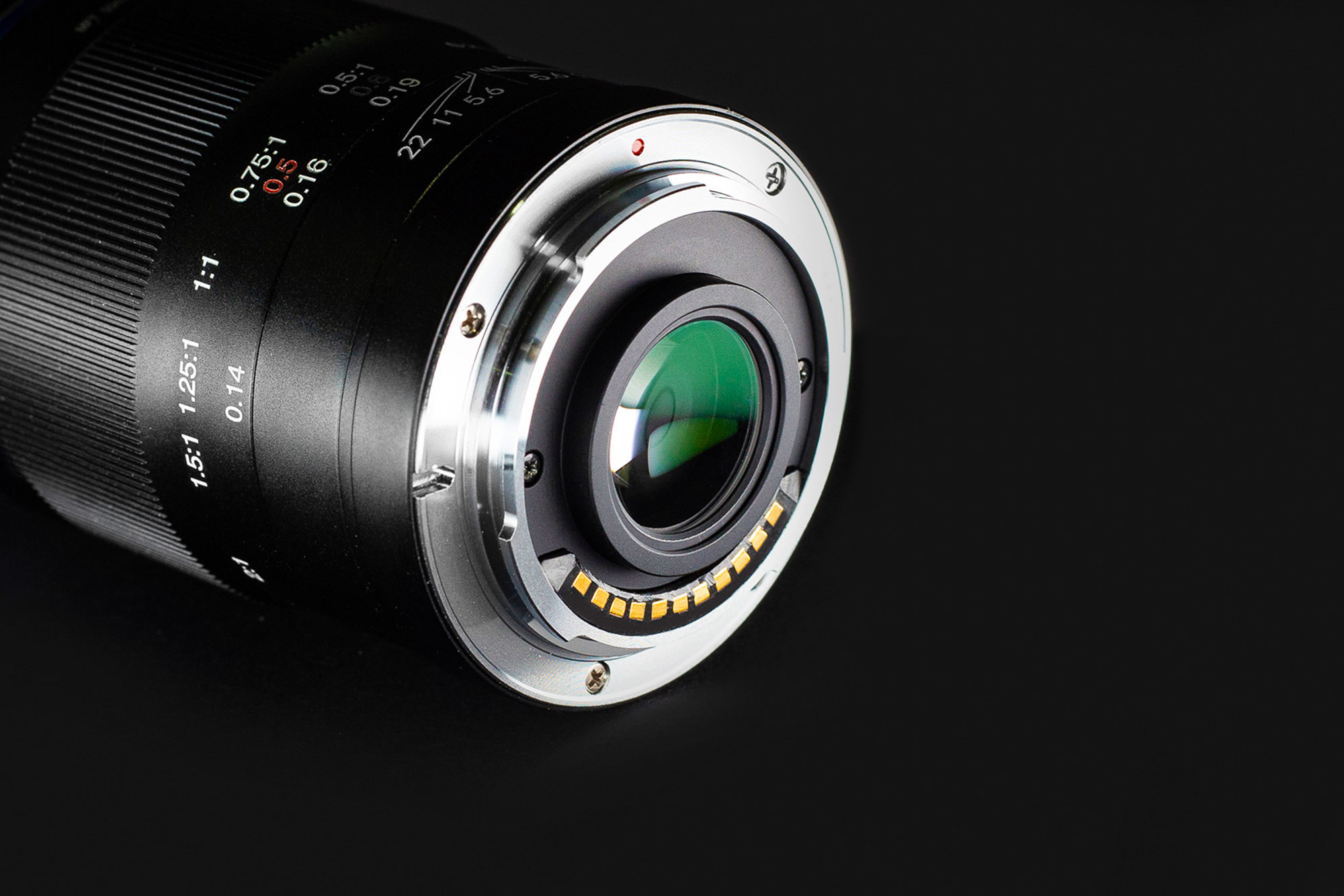 Venus Optics Laowa 50mm f/2.8 lens for Micro 4/3 on black background